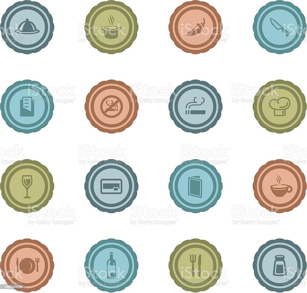 Retro Restaurant Badges royalty-free stock vector art