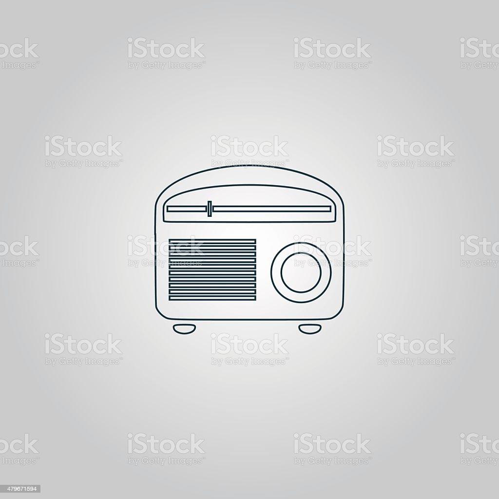 Retro revival radios tuner vector illustration vector art illustration