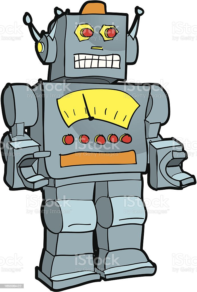 Retro robot illustration vector art illustration