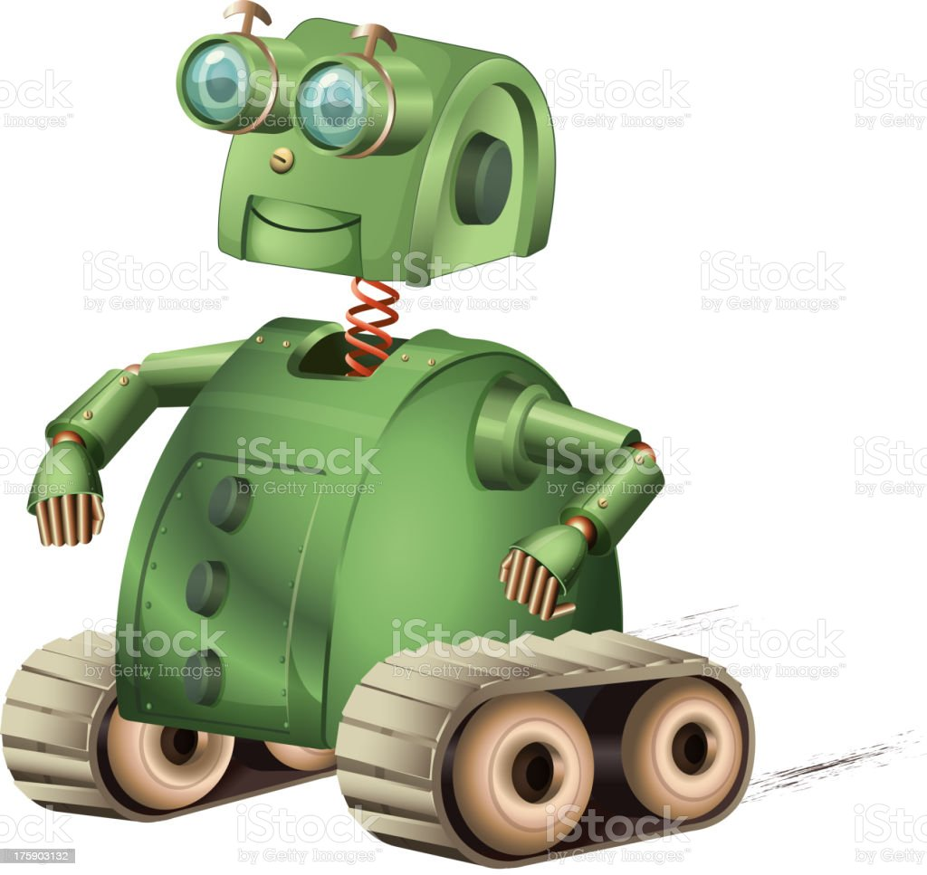 Retro robot royalty-free stock vector art