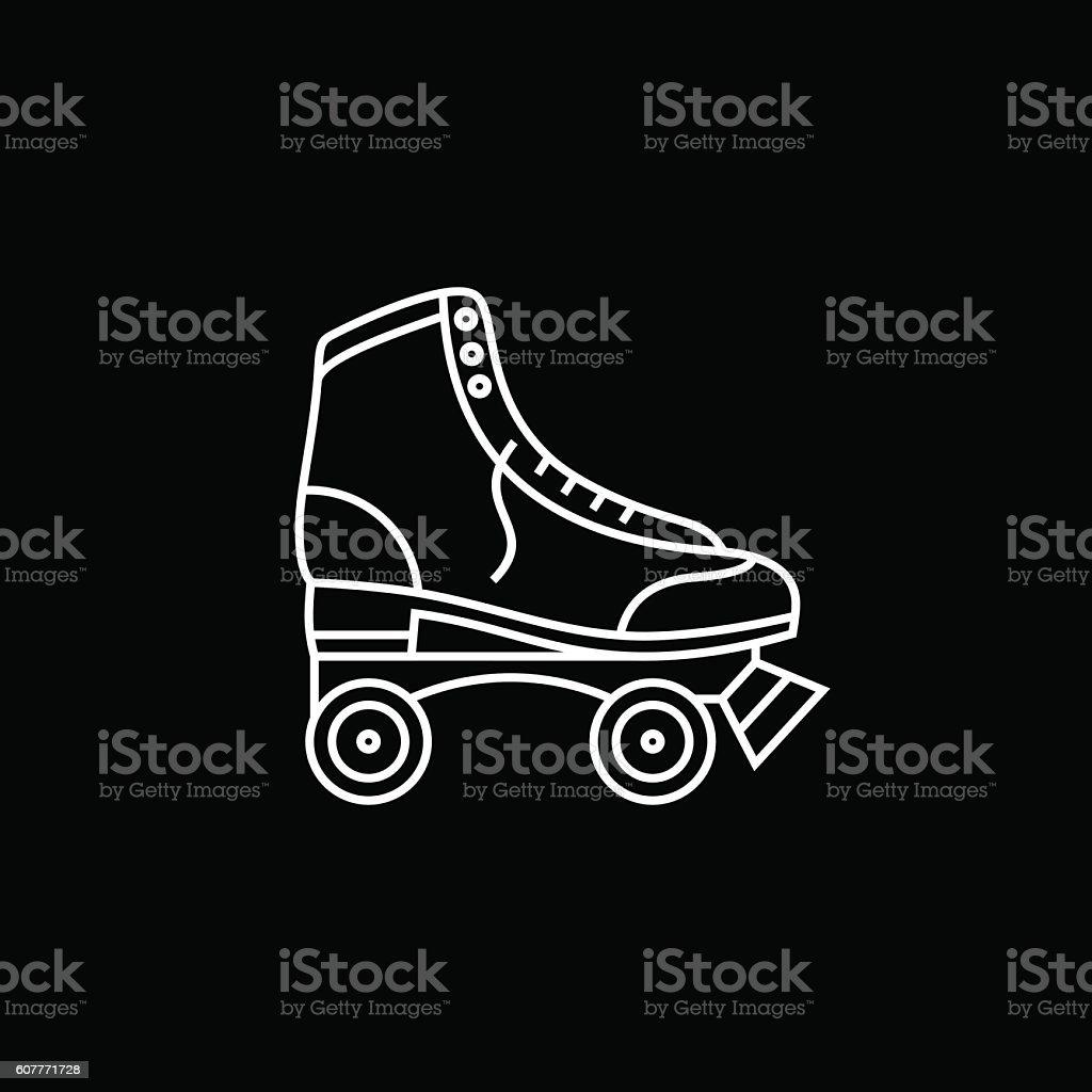Roller skates book - Book Cover Computer Software Illustration Leather Mobile App Retro Roller Skates