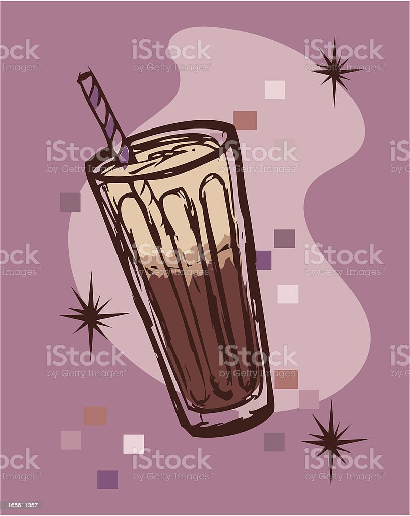 Retro - Rootbeer Float sketch vector art illustration