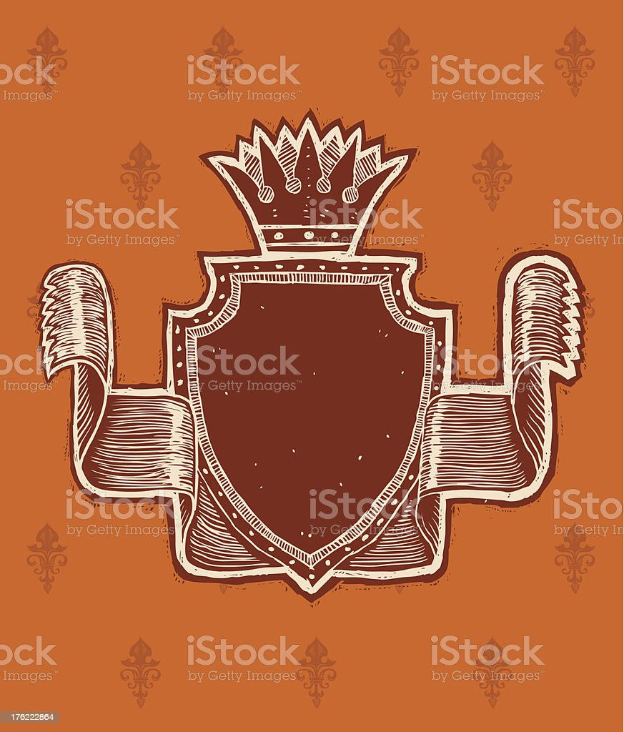 Retro royal banner royalty-free stock vector art