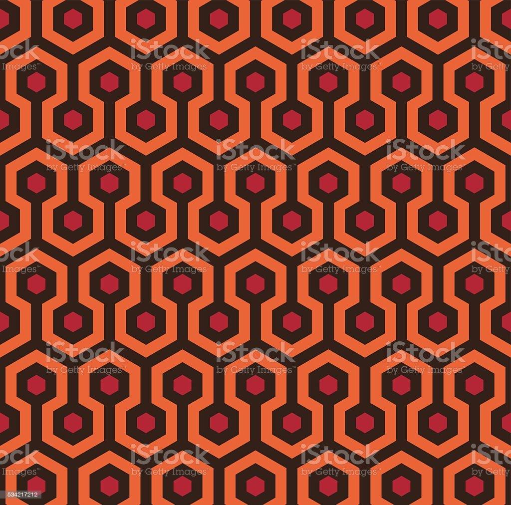 Retro Seamless Hexagon Pattern vector art illustration