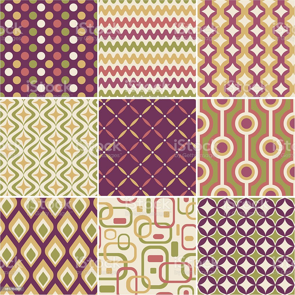 retro seamless pattern royalty-free stock vector art