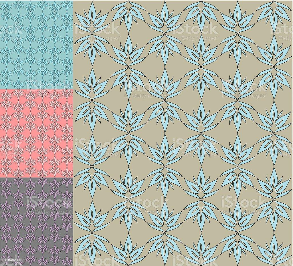 retro seamless pattern / wallpaper / vector royalty-free stock vector art