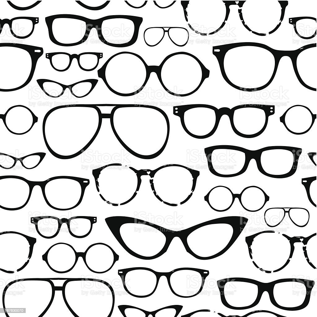 Retro Seamless spectacles vector art illustration