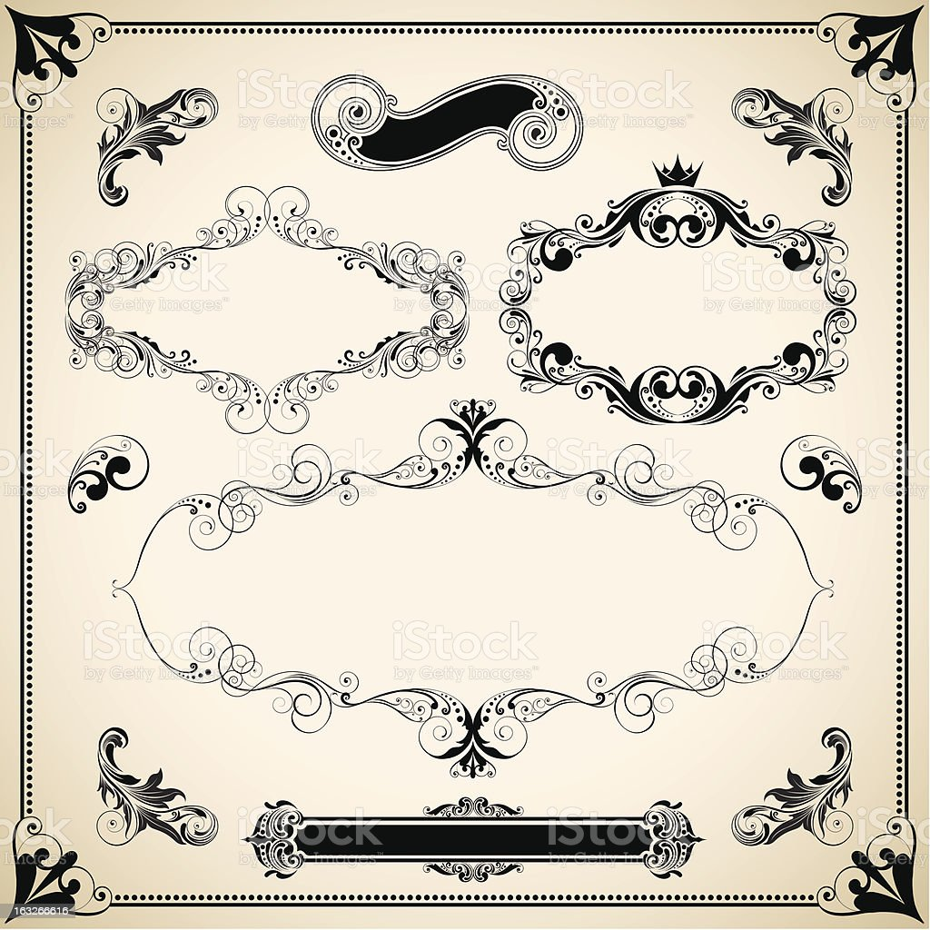 Retro set frame royalty-free stock vector art