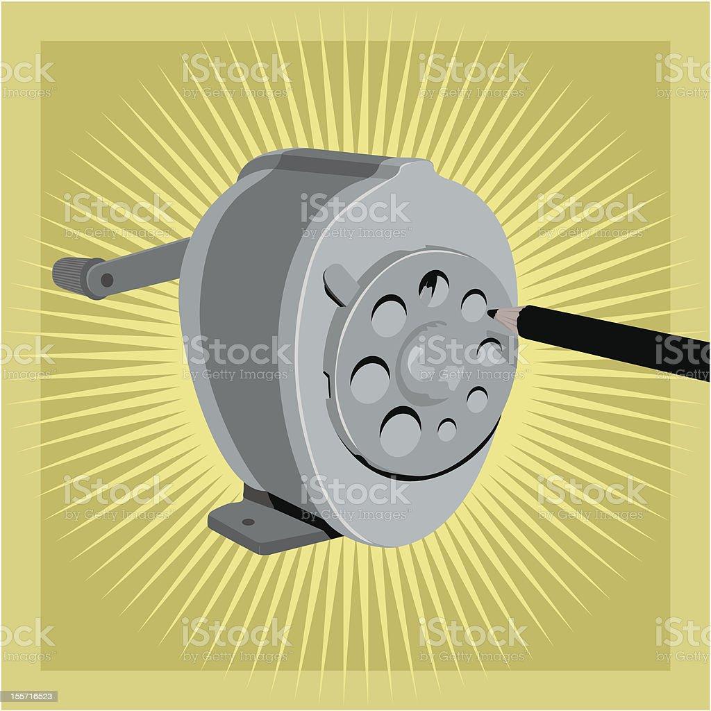 Retro sharpener vector art illustration