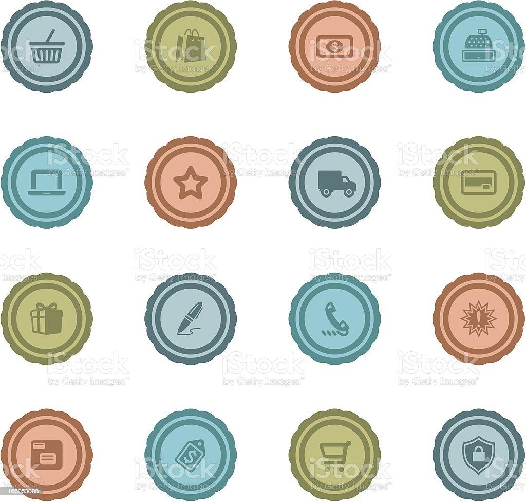 Retro Shopping Badges royalty-free stock vector art