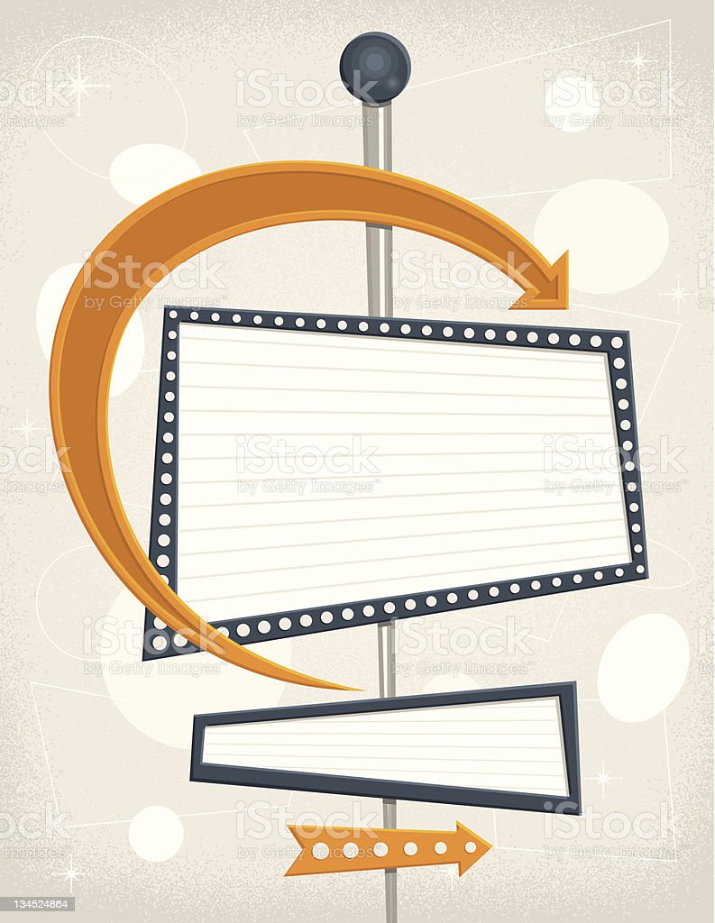 Retro Sign stock photo