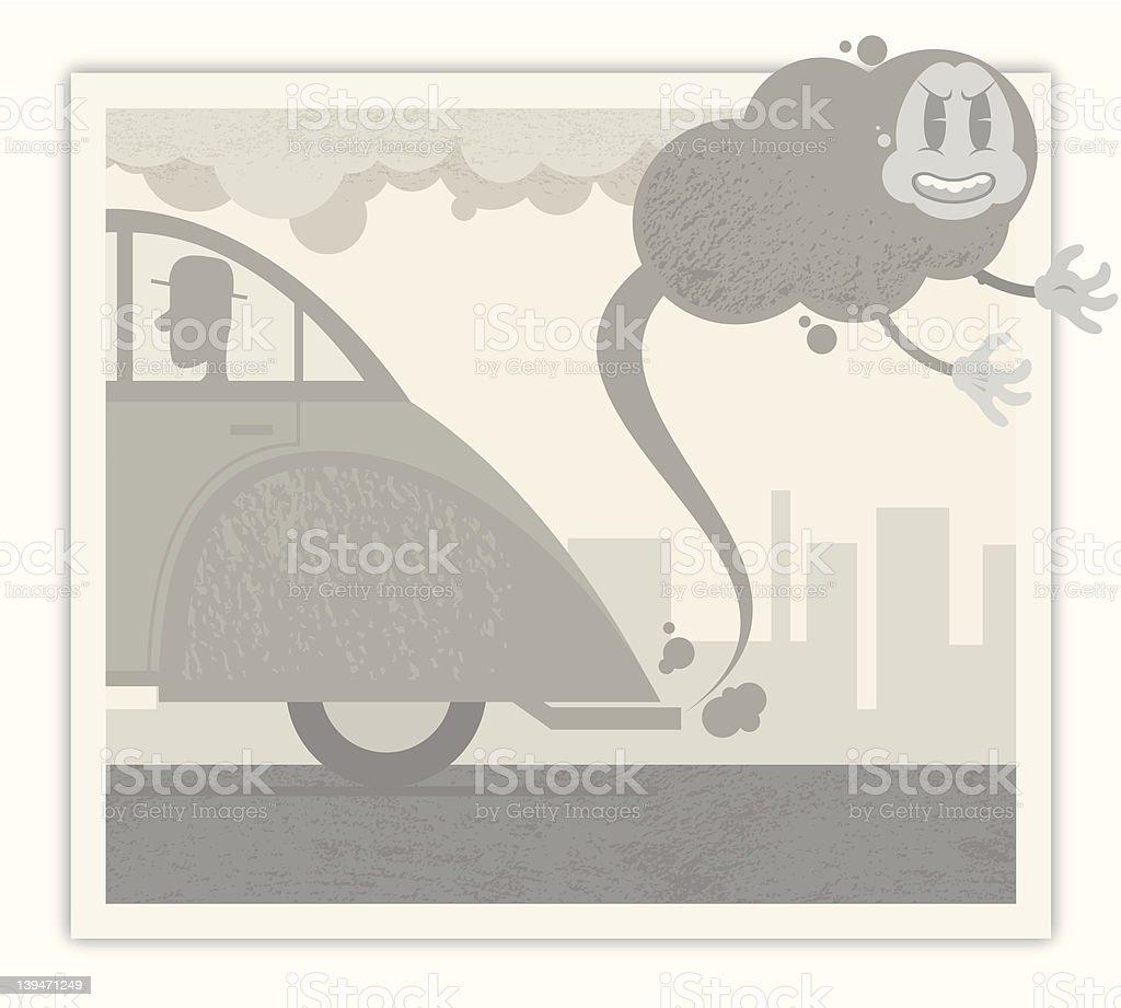 Retro Smog! royalty-free stock vector art