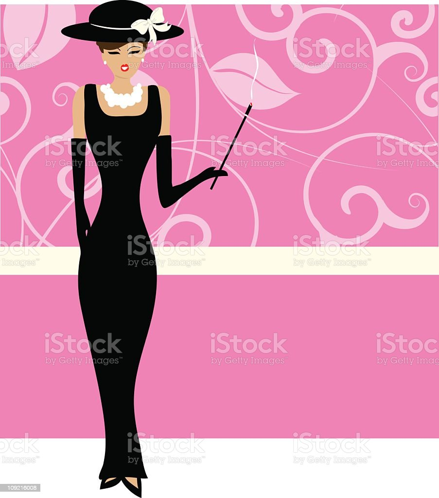 Retro sophisticated woman royalty-free stock vector art