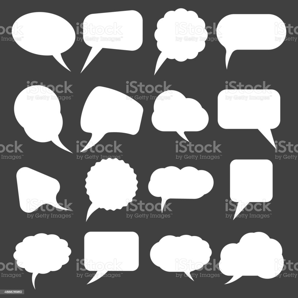 Retro speak bubbles vector art illustration