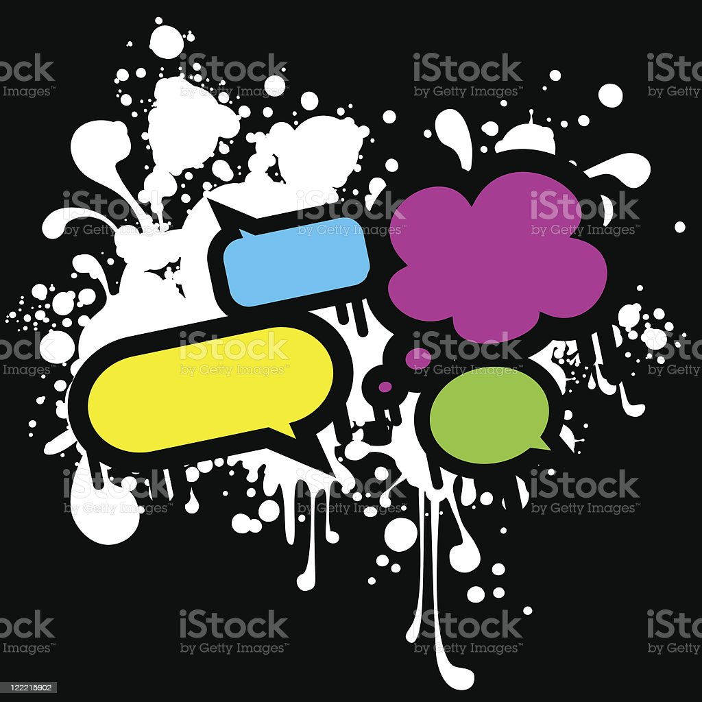 Retro speech bubbles royalty-free stock vector art