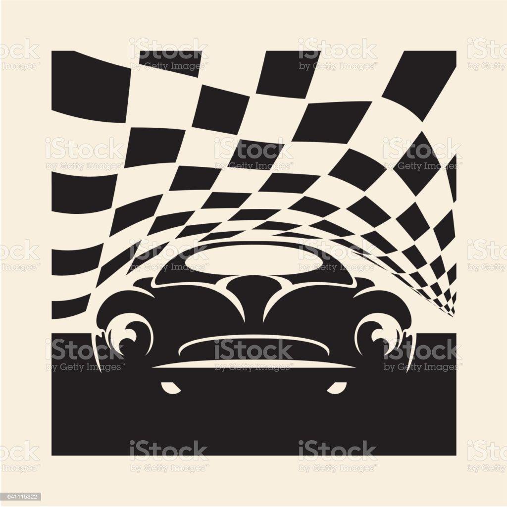 retro sport carretro style poster
