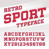 Retro sport style typeface