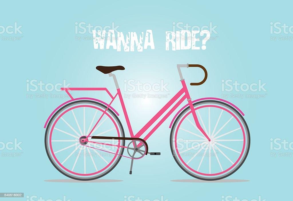 Retro Style Bicycle vector art illustration