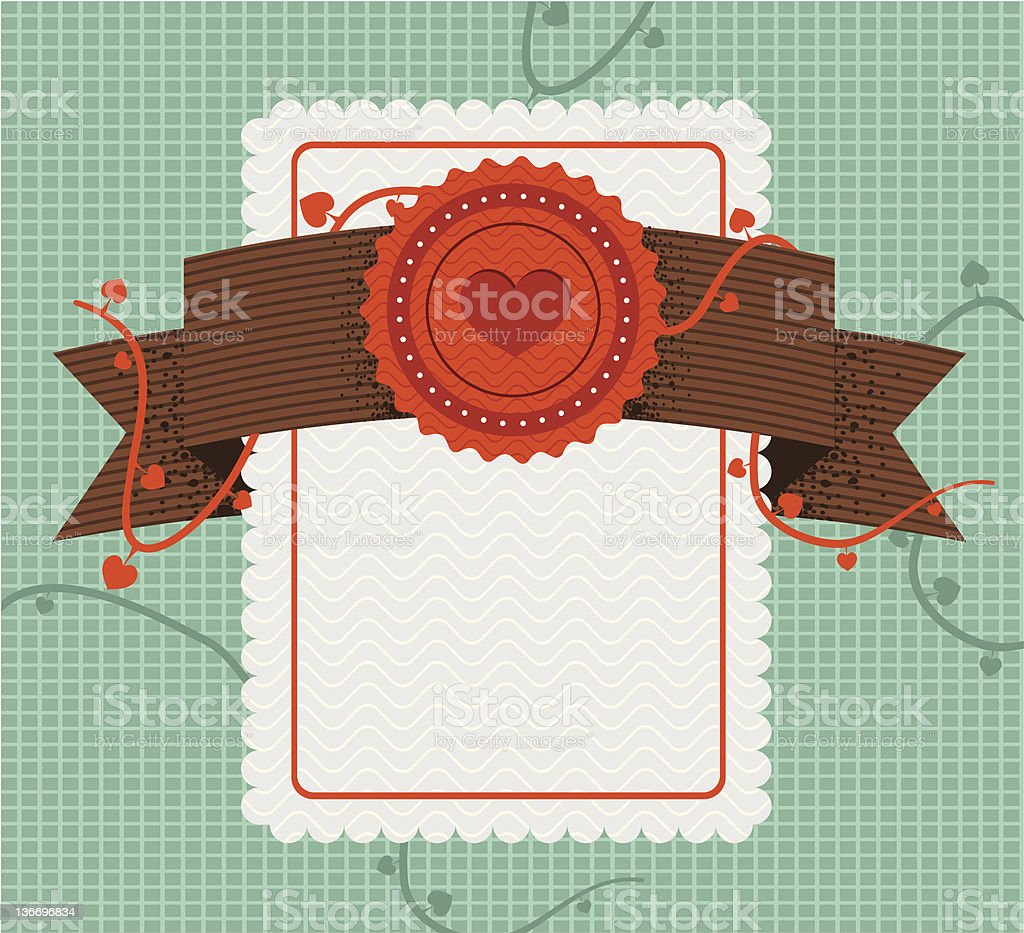 retro style love card royalty-free stock vector art