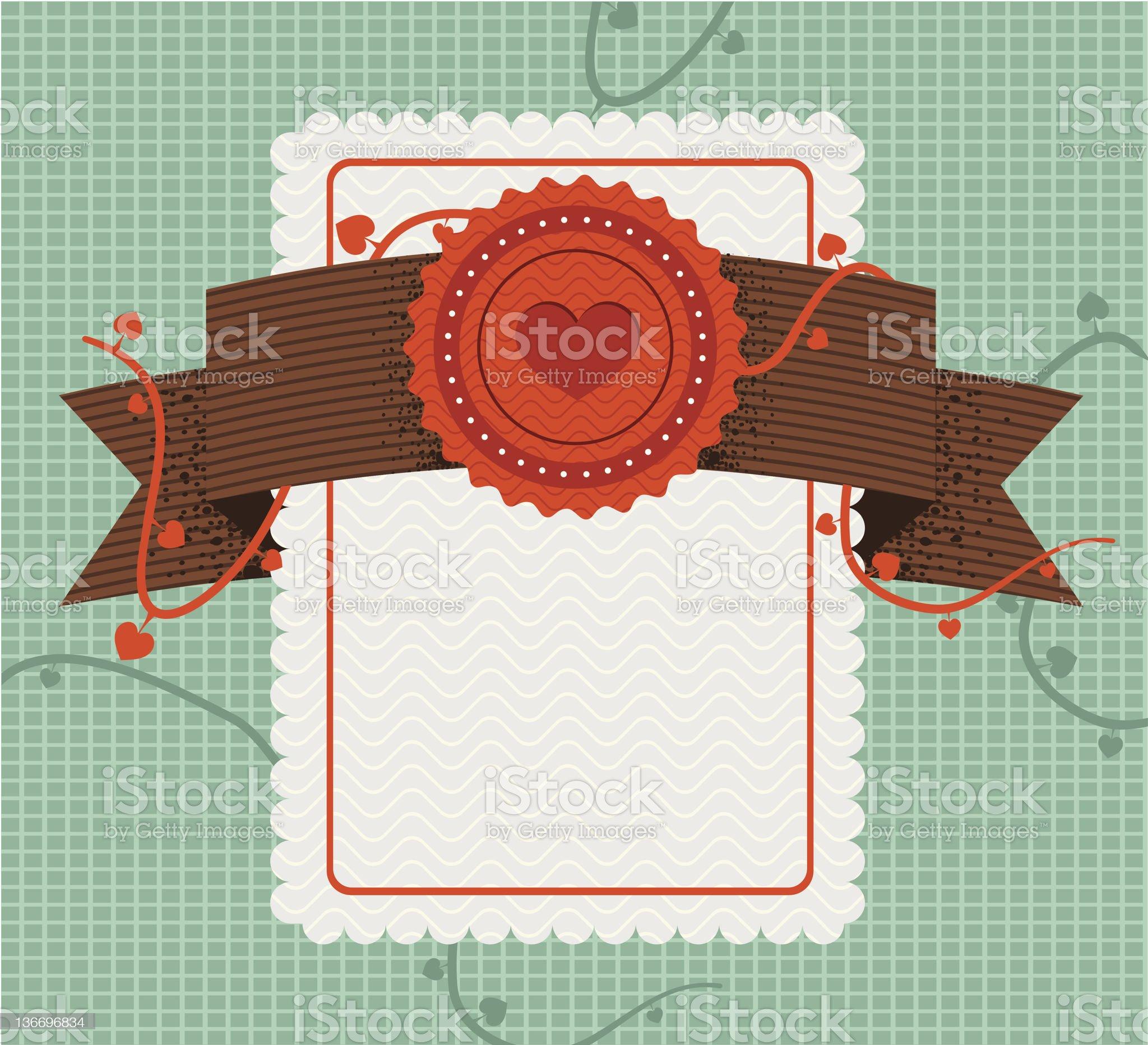 retro style love card royalty-free stock vector art