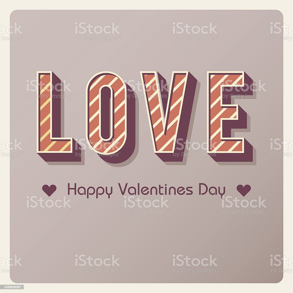retro style love lettering - valentines day background royalty-free stock vector art