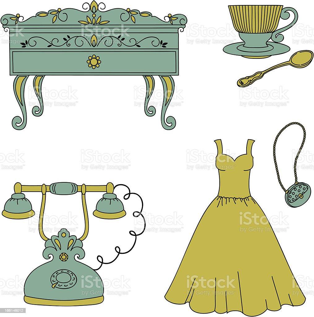 Retro style objects. royalty-free stock vector art