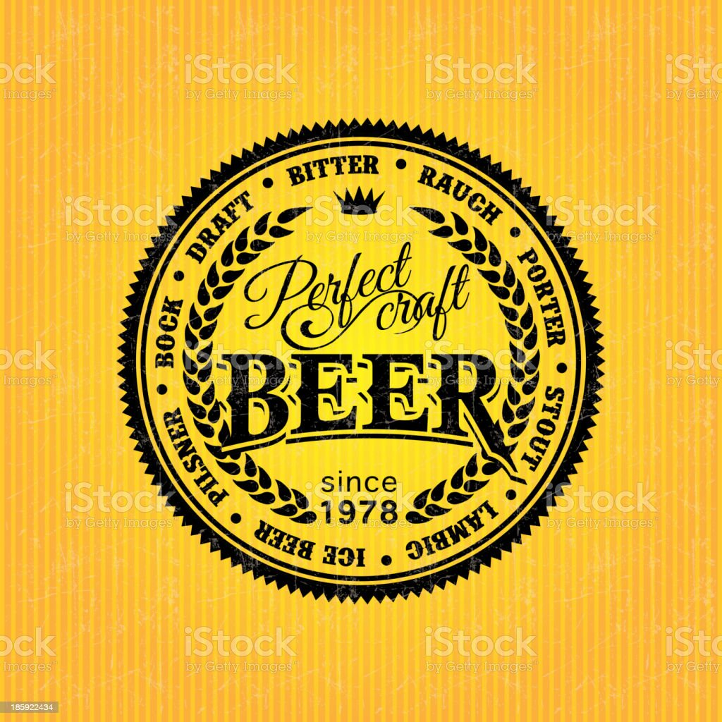 Retro Styled Beer Label royalty-free stock vector art