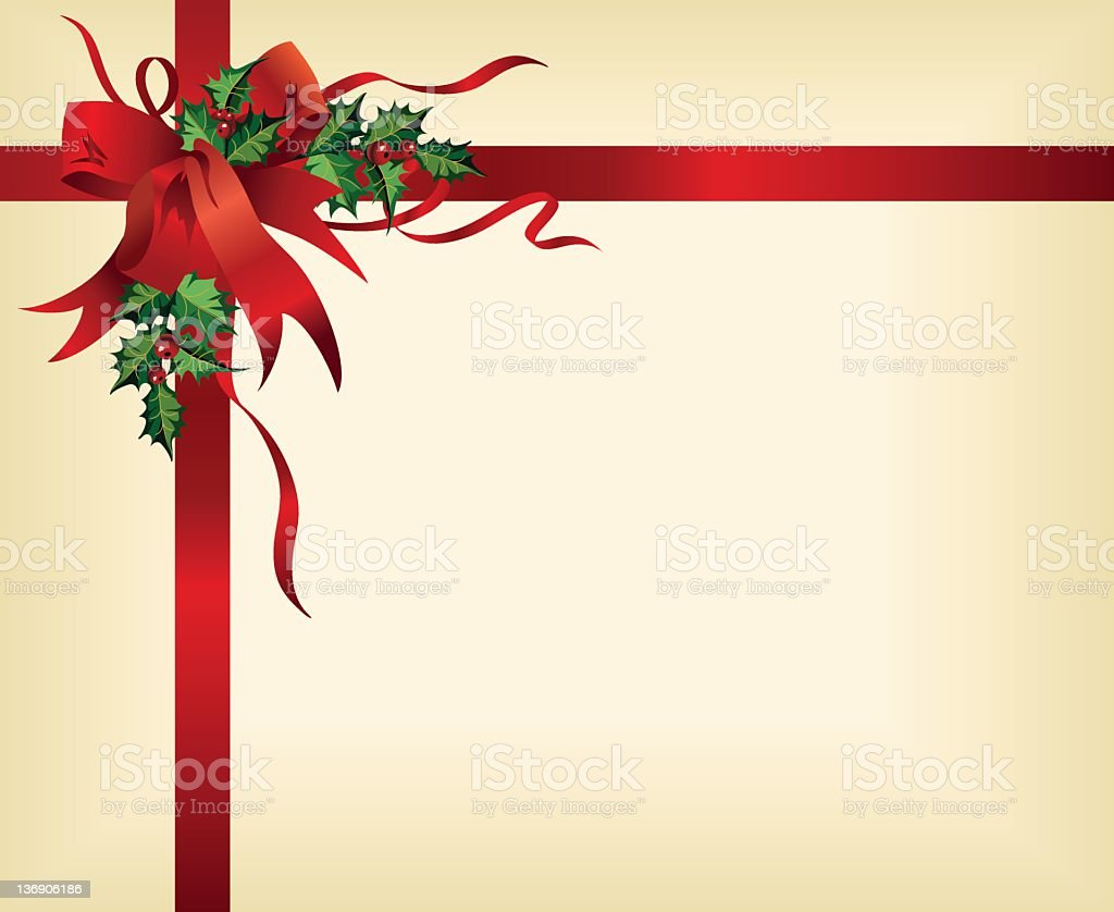 Red Bow Package stock photo