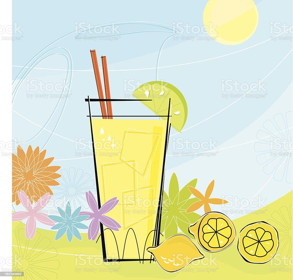 Retro Summer Lemonade (Vector) vector art illustration