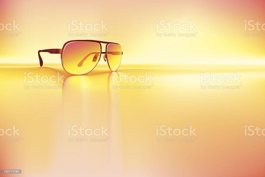 Retro sunglasses background royalty-free stock vector art