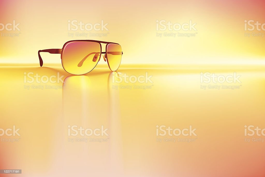 Retro sunglasses background vector art illustration