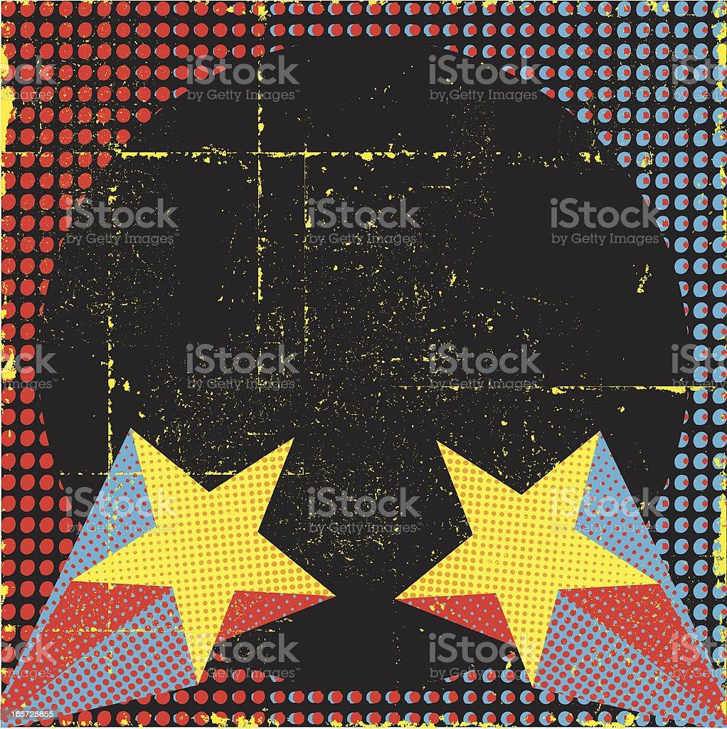 Retro Superstar Background vector art illustration