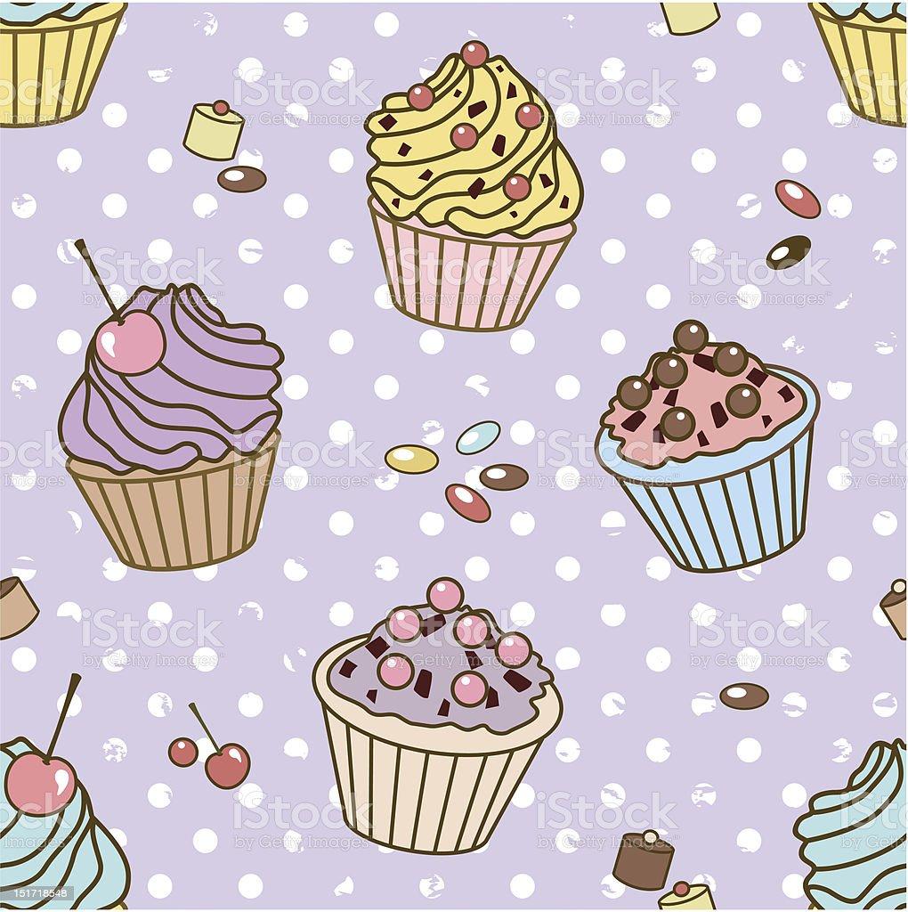 retro sweets pattern royalty-free stock vector art