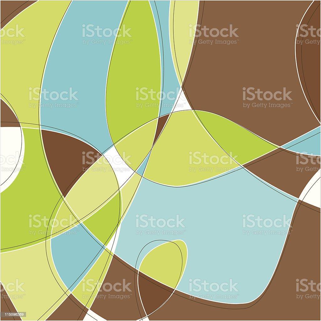 Retro Swirl Background vector art illustration