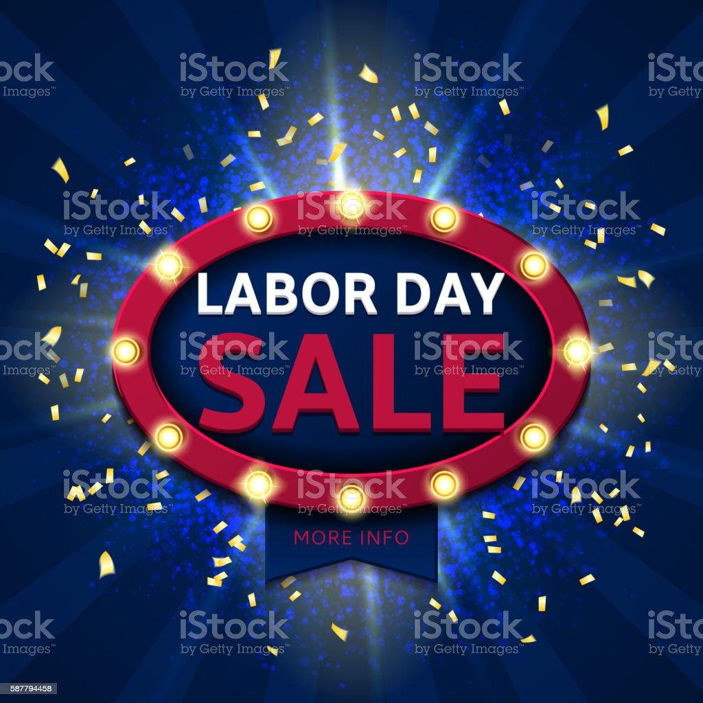 Retro symbol for labor day sale royalty-free stock vector art