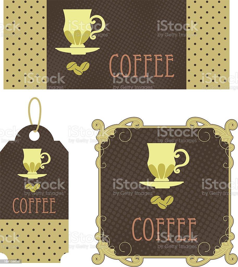 Retro tags coffee royalty-free stock vector art