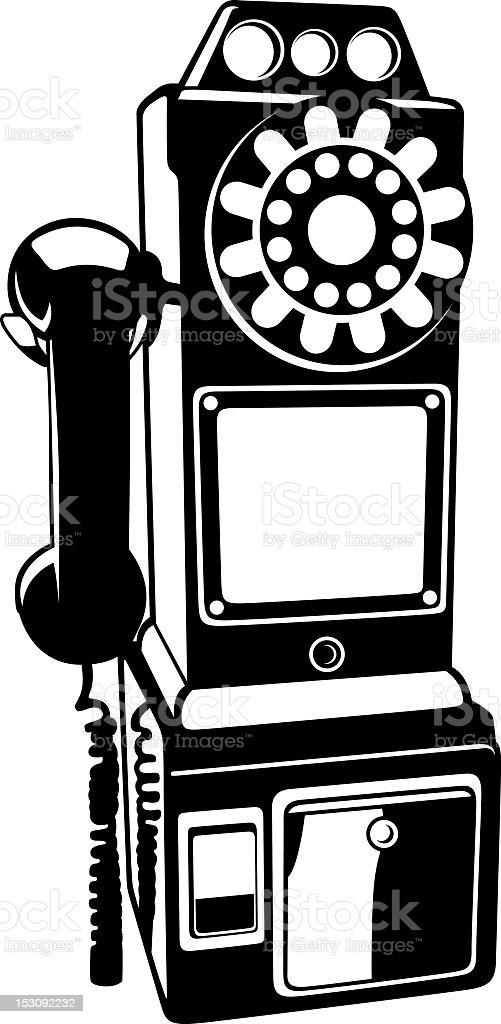Retro telephone illustration royalty-free stock vector art