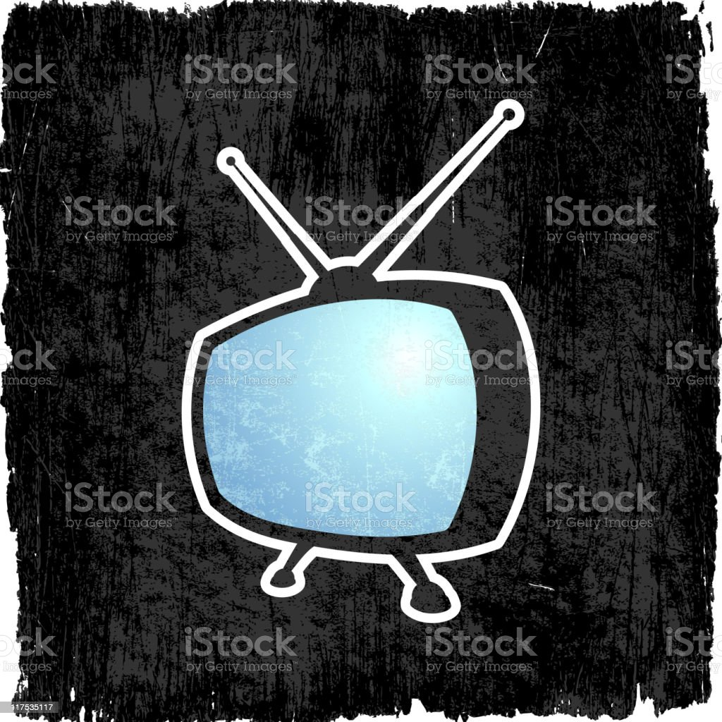 Retro Television on royalty free vector Background vector art illustration