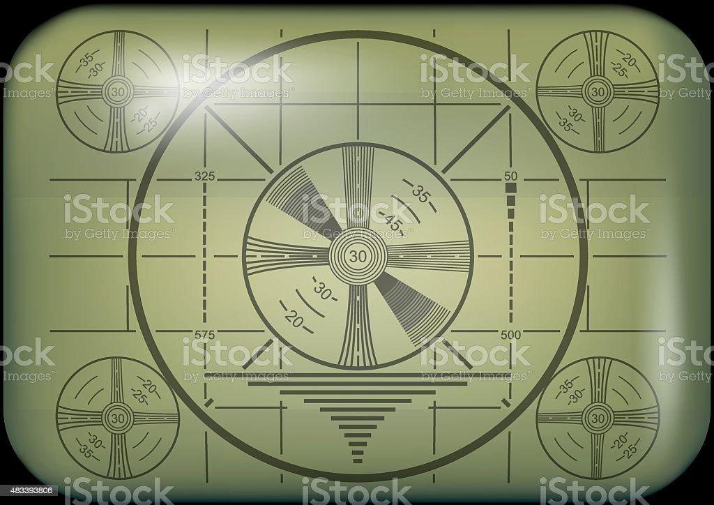 Retro Television Test Pattern vector art illustration