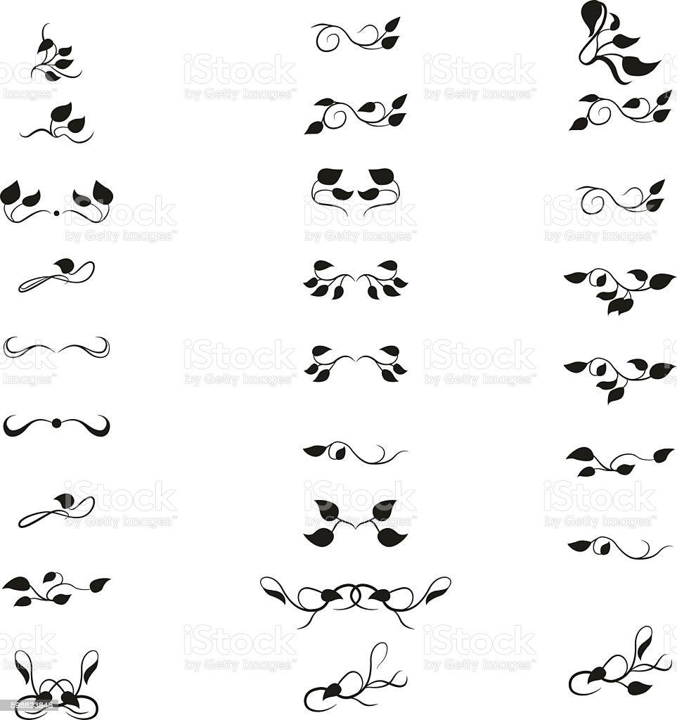 Retro text dividers set vector art illustration