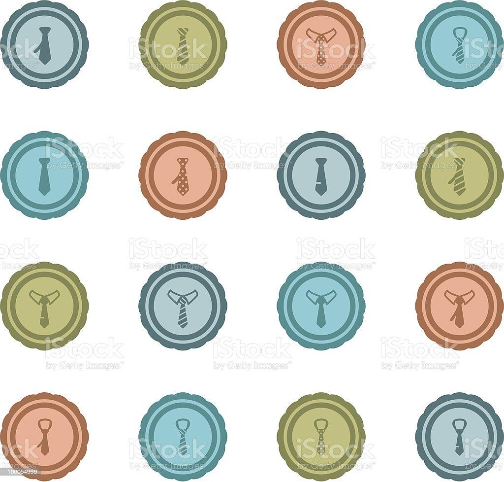 Retro Tie Badges royalty-free stock vector art
