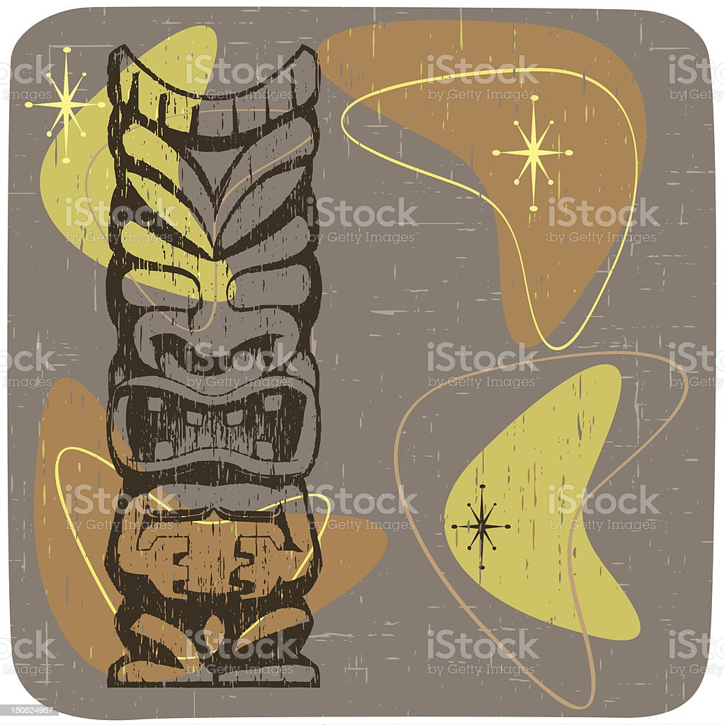 Retro Tiki vector art illustration