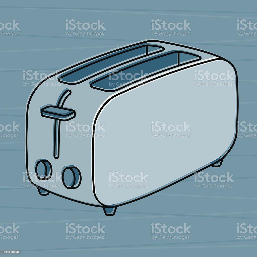 Retro Toaster vector art illustration