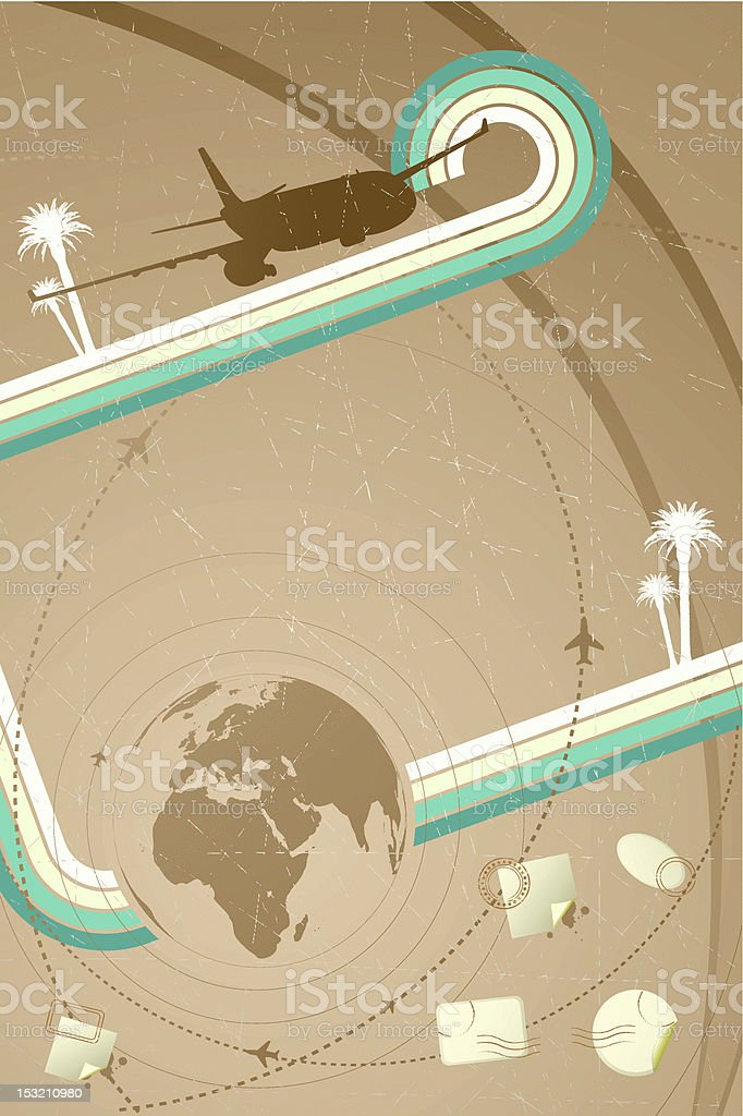 Retro travel poster royalty-free stock vector art