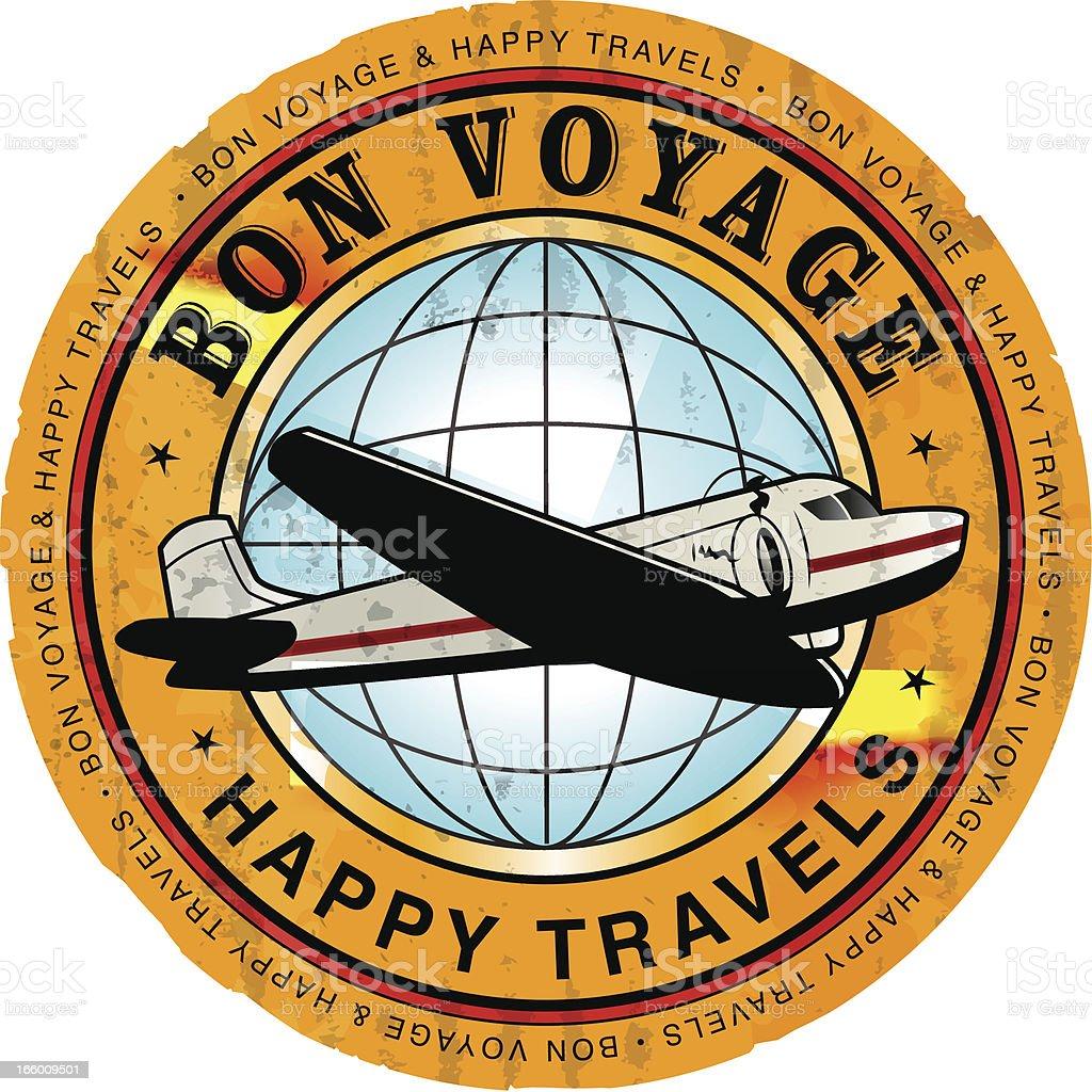 Retro Travel Sticker royalty-free stock vector art