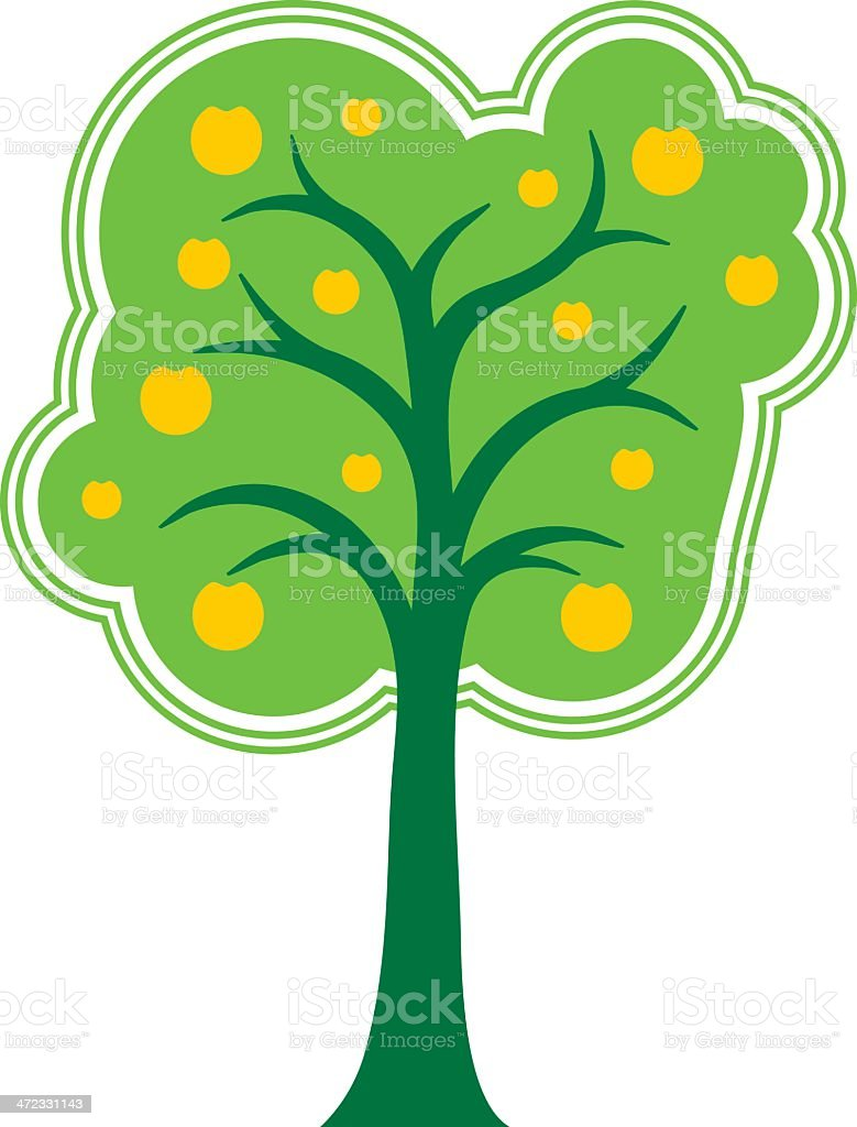 Retro tree royalty-free stock vector art