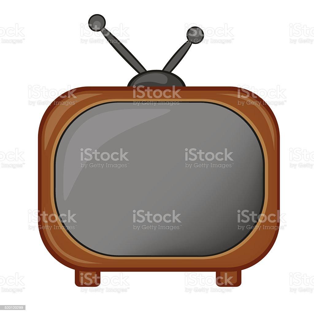 Retro TV icon, vector vector art illustration