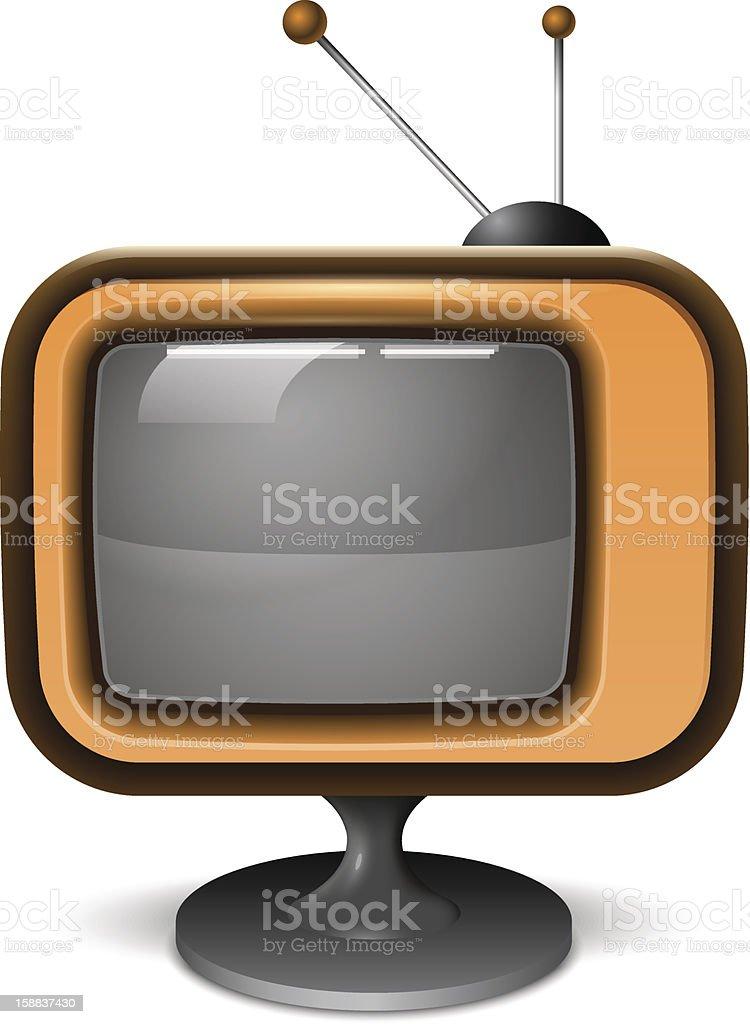 Retro TV Realistic Icon royalty-free stock vector art