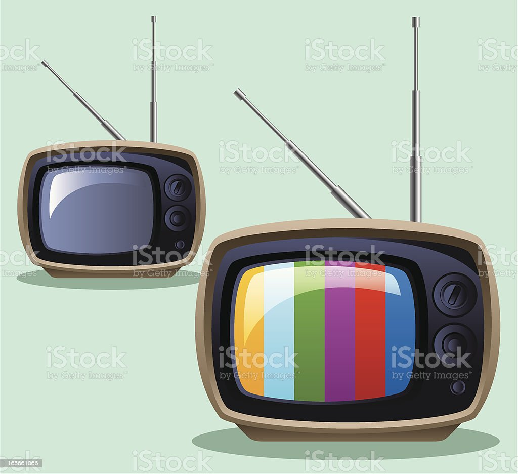 Retro TV vector art illustration