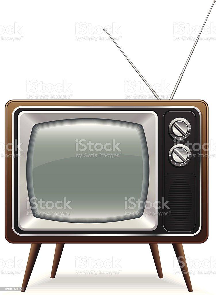 Retro TV vector art illustration